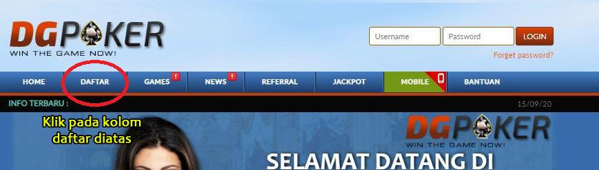 Daftar Akun Poker Online di Situs DGPoker